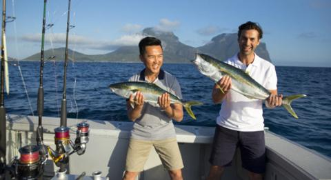 E​njoy fishing off the beautiful Lord Howe Island