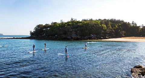 S​tand up paddleboarding, Shelly Beach, Manly