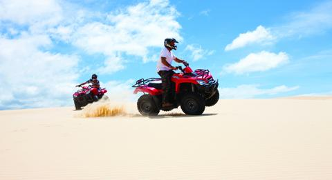 Dune buggies on Stockton Bight Sand Dunes, Port Stephens