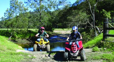 Quadbike riding at Glenworth Valley Outdoor Adventures, Gosford, Central Coast