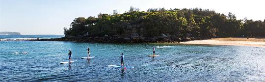 Stand up paddleboarding, Shelly Beach